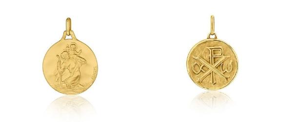 Médailles baptême : Saint Christophe et monogramme du Christ – AUGIS